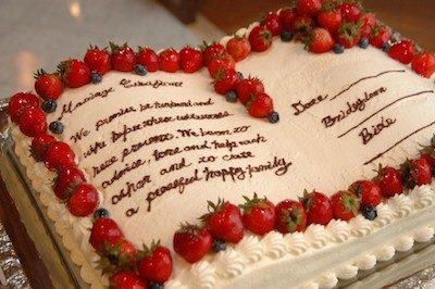 今日のウエディングケーキ